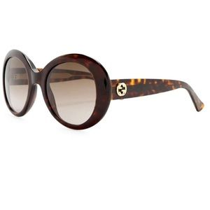 GUCCI Round Oversized 51mm thick frame sunglasses